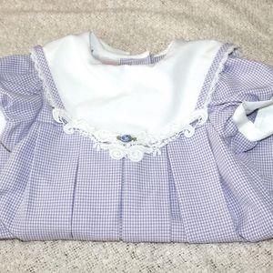 Vintage Rose Cottage 2T pleated dress